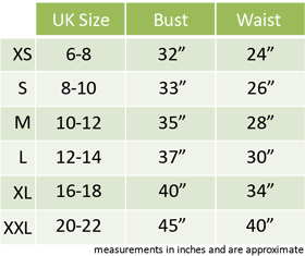 Women's Fancy Dress Size Guide