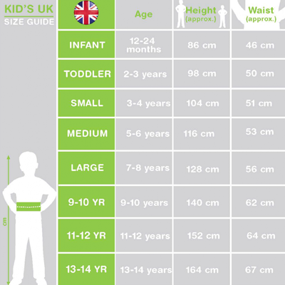 Childrens Fancy Dress Size Guide
