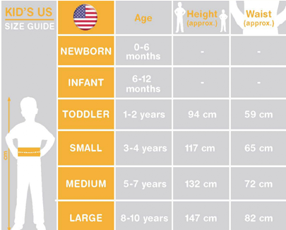 Kid's Fancy Dress Size Guide