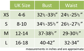 Female Fancy Dress Size Guide