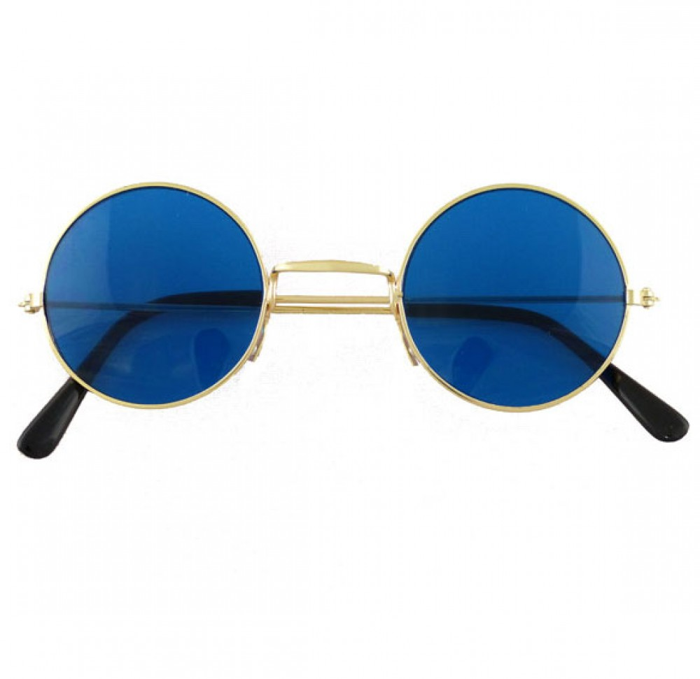 60s Blue Hippie Glasses Fancy Dress And Party