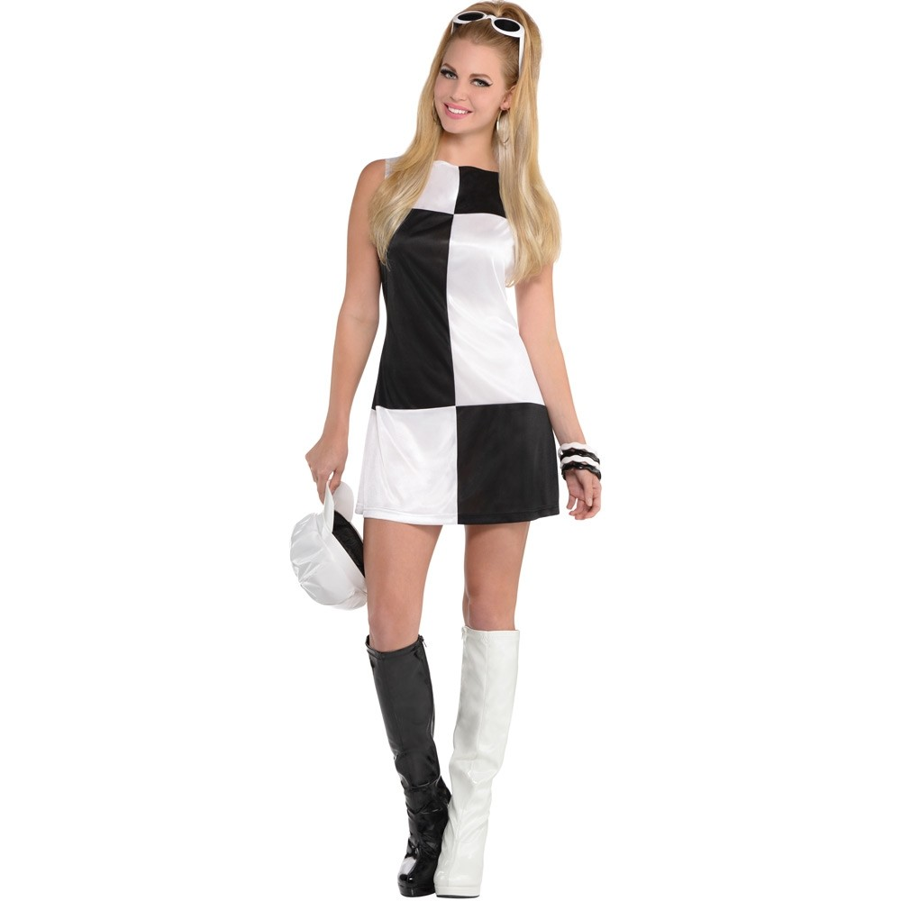 Black and White 60\u2019s Dress