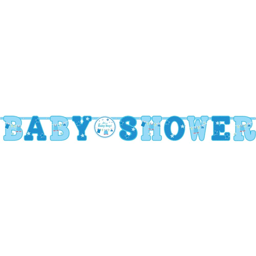 Boys Baby Shower Banner Fancy Dress And Party