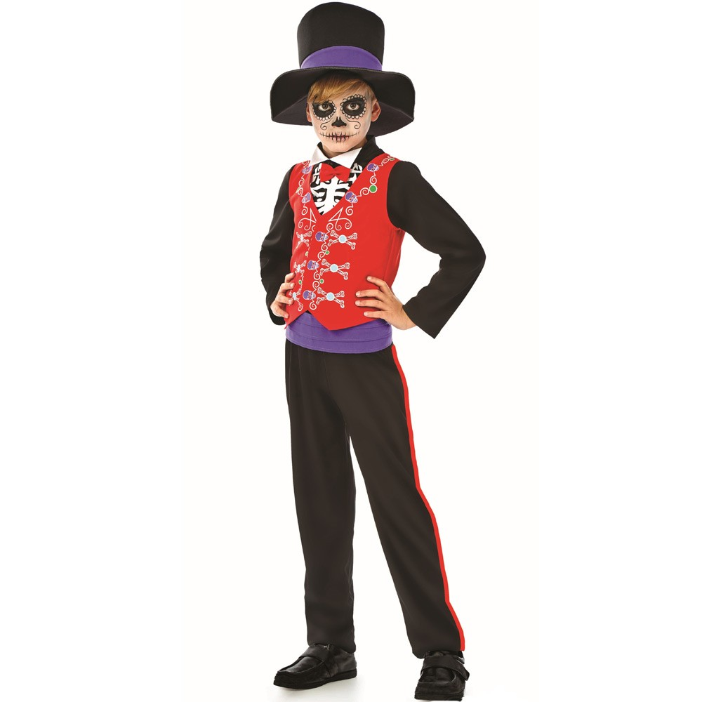 Boys Mexican Costume With Waistcoat And Hat Fancy Dress And Party