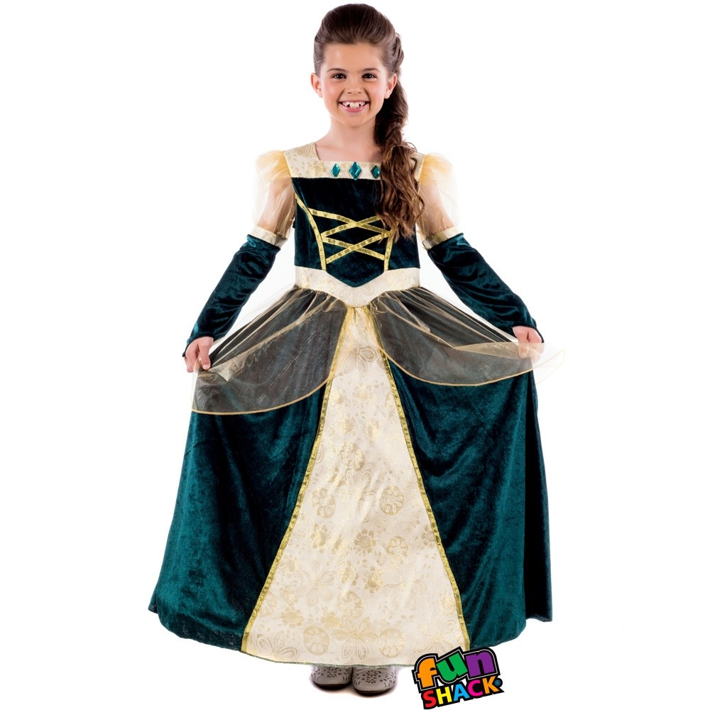 Childs Renaissance Ball Gown Dress - Fancy Dress and Party