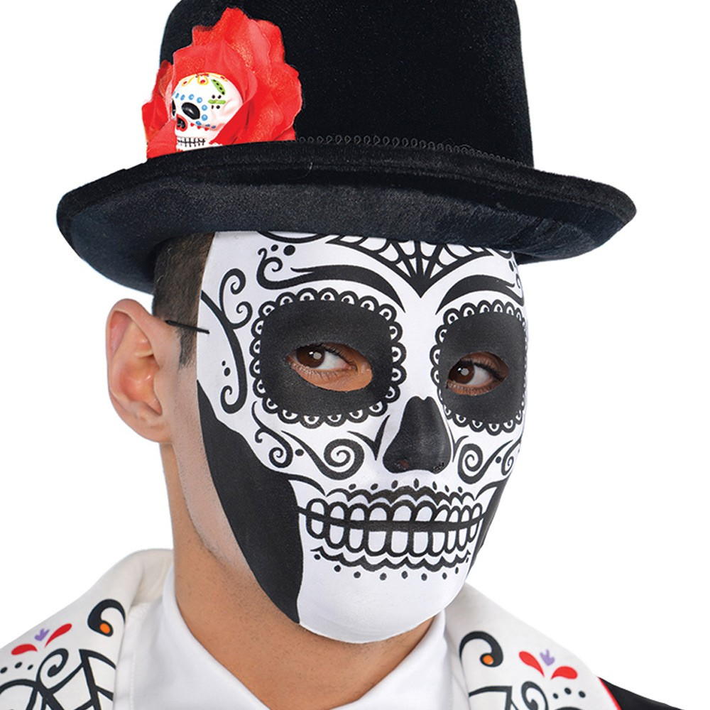Day Of The Dead Face Mask Fancy Dress And Party