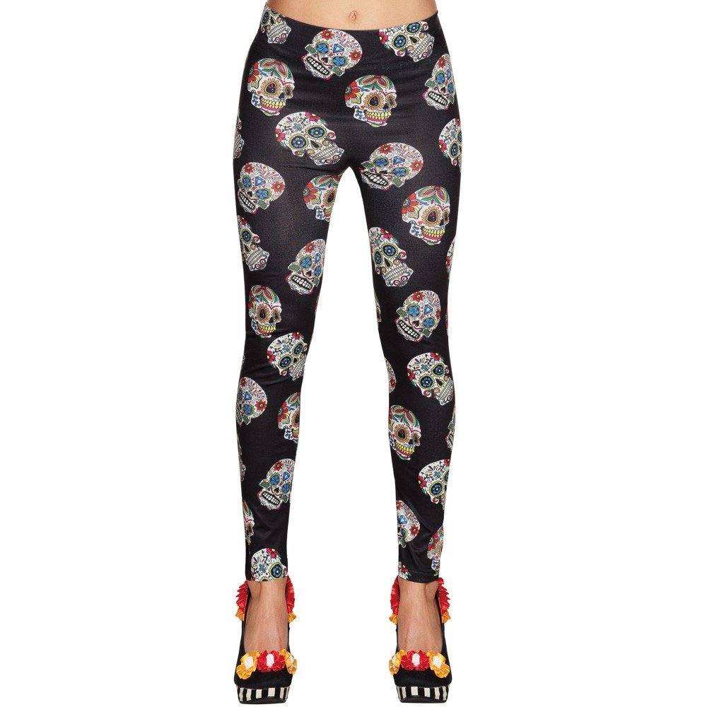 7331d3c56 Day of the Dead Leggings - Fancy Dress and Party