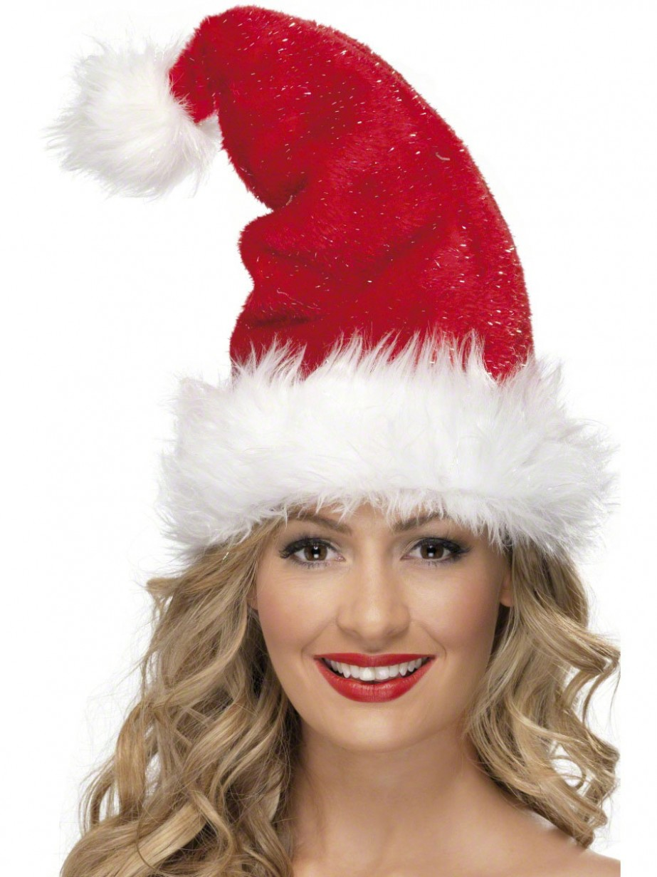7ce855f56b675 More Views. Deluxe Christmas Santa Hat With Fur Trim ...