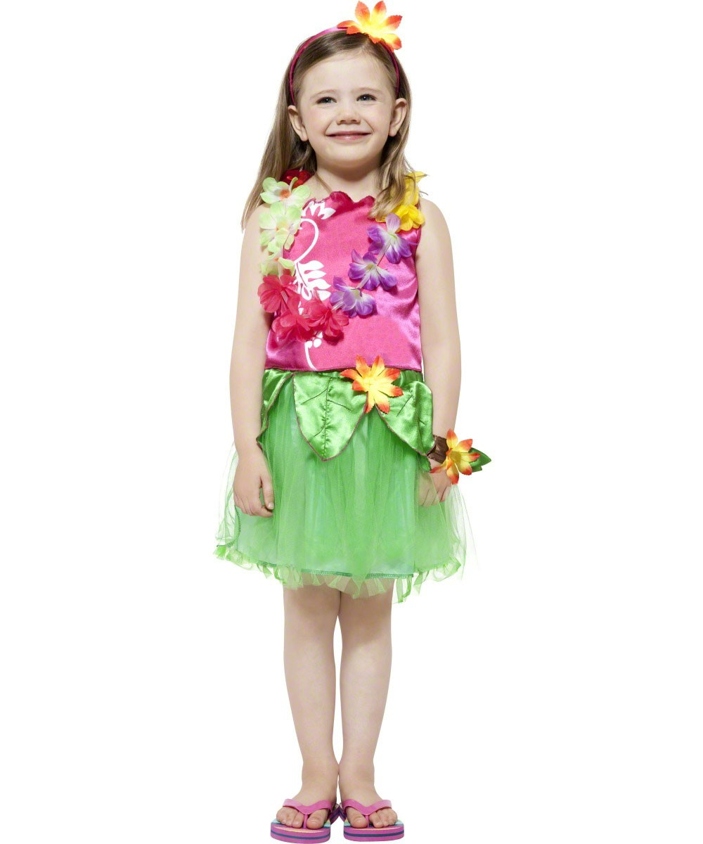 36717e356e Girls Hawaiian Costume - Fancy Dress and Party