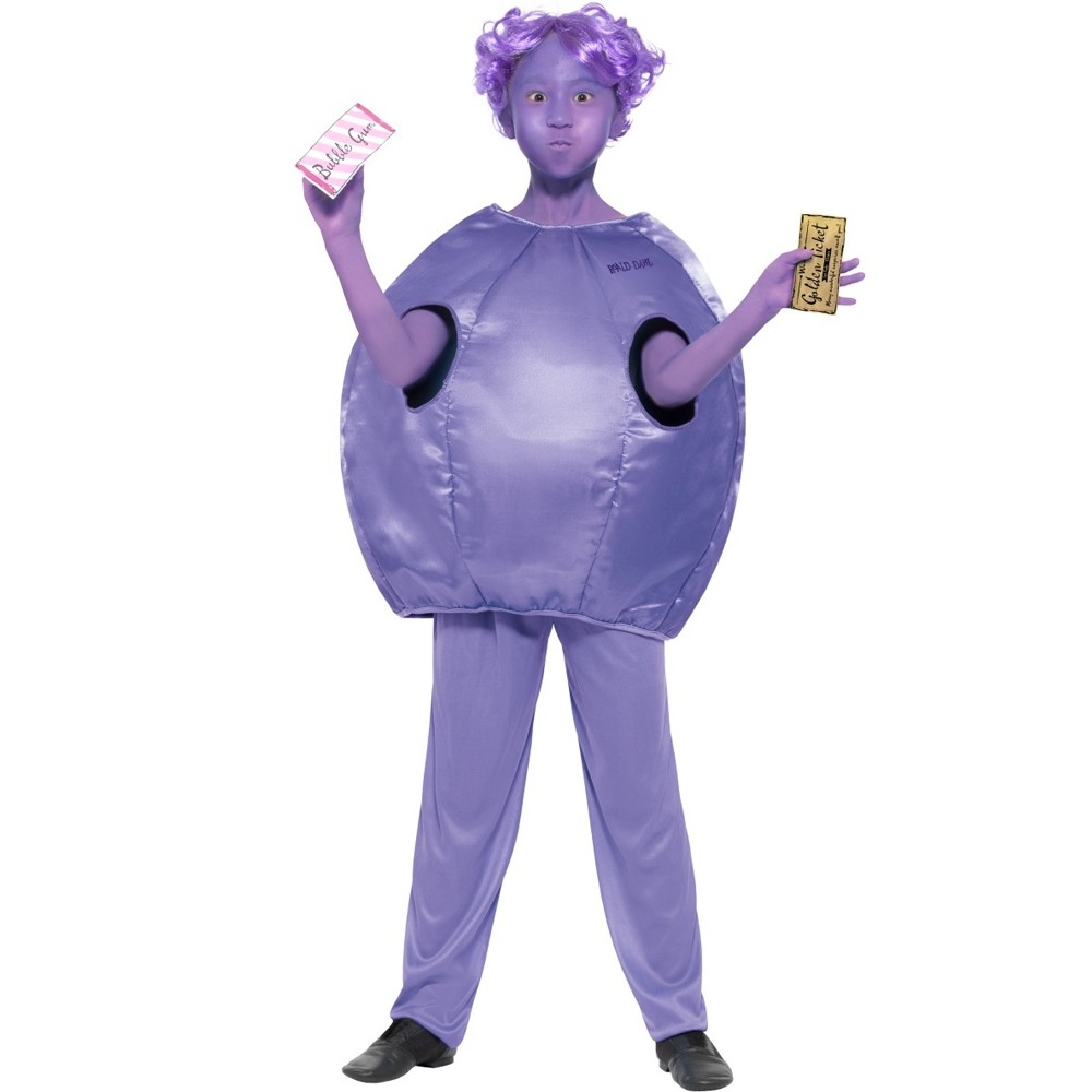 Girls Roald Dahl Violet Beauregarde Costume - Fancy Dress and Party