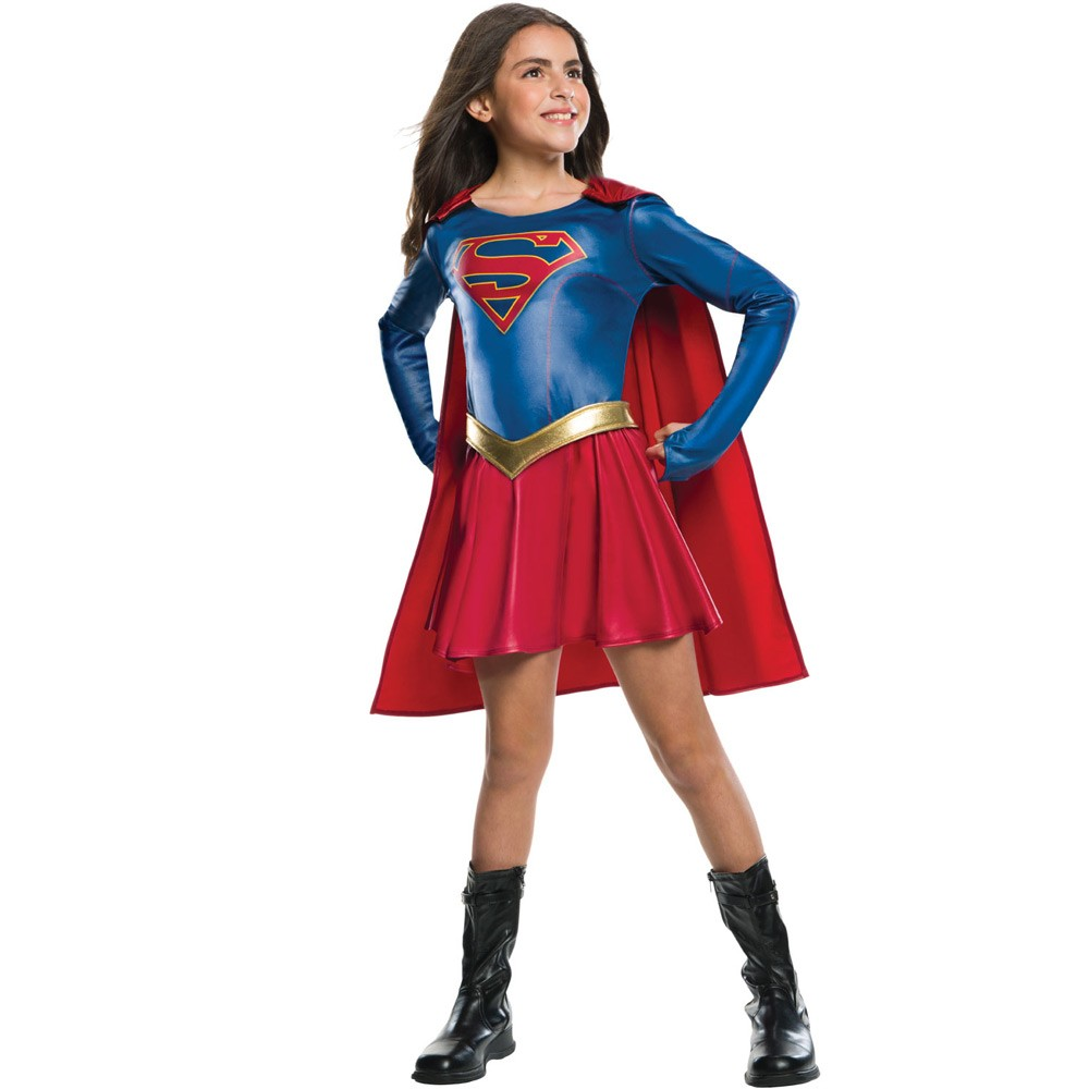 Licensed Childs Supergirl Costume- Fancy Dress and Party