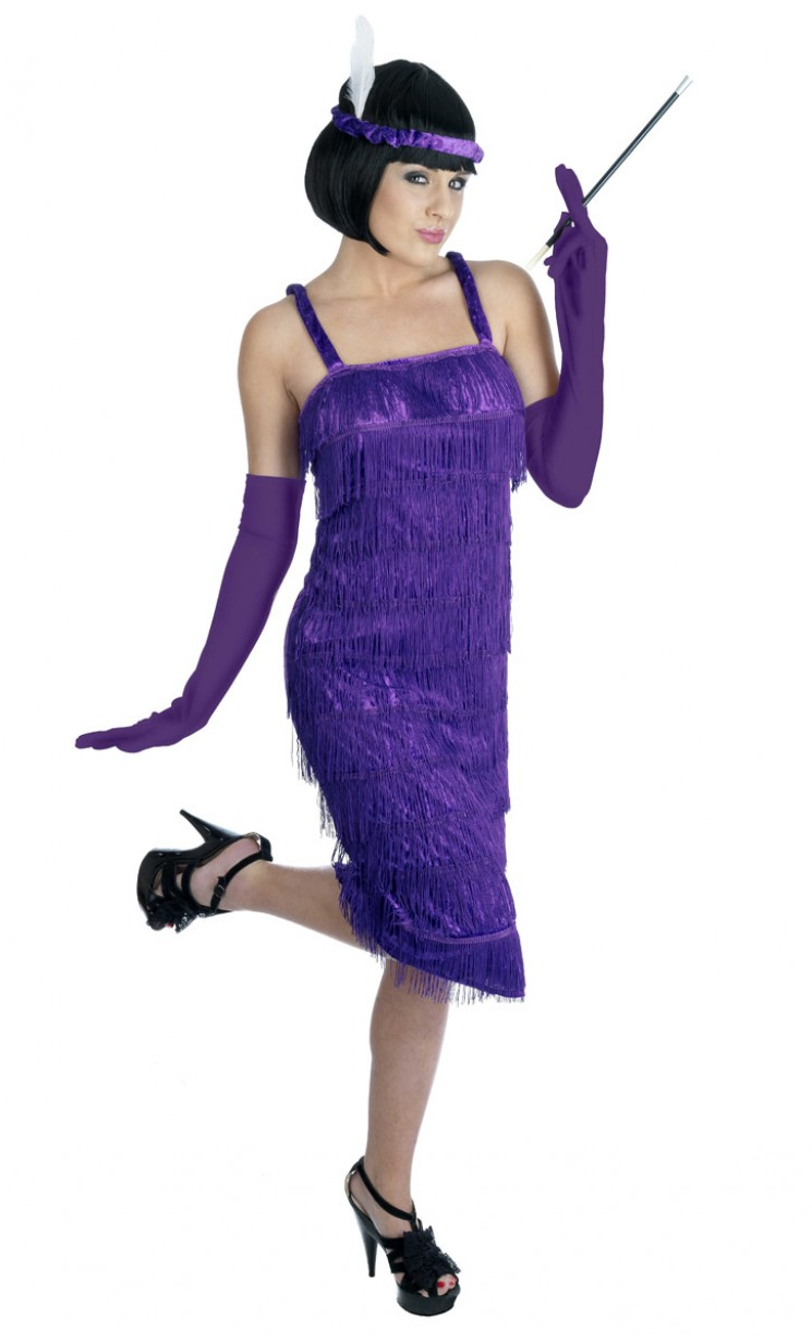Purple Flapper Costume - Fancy Dress and Party