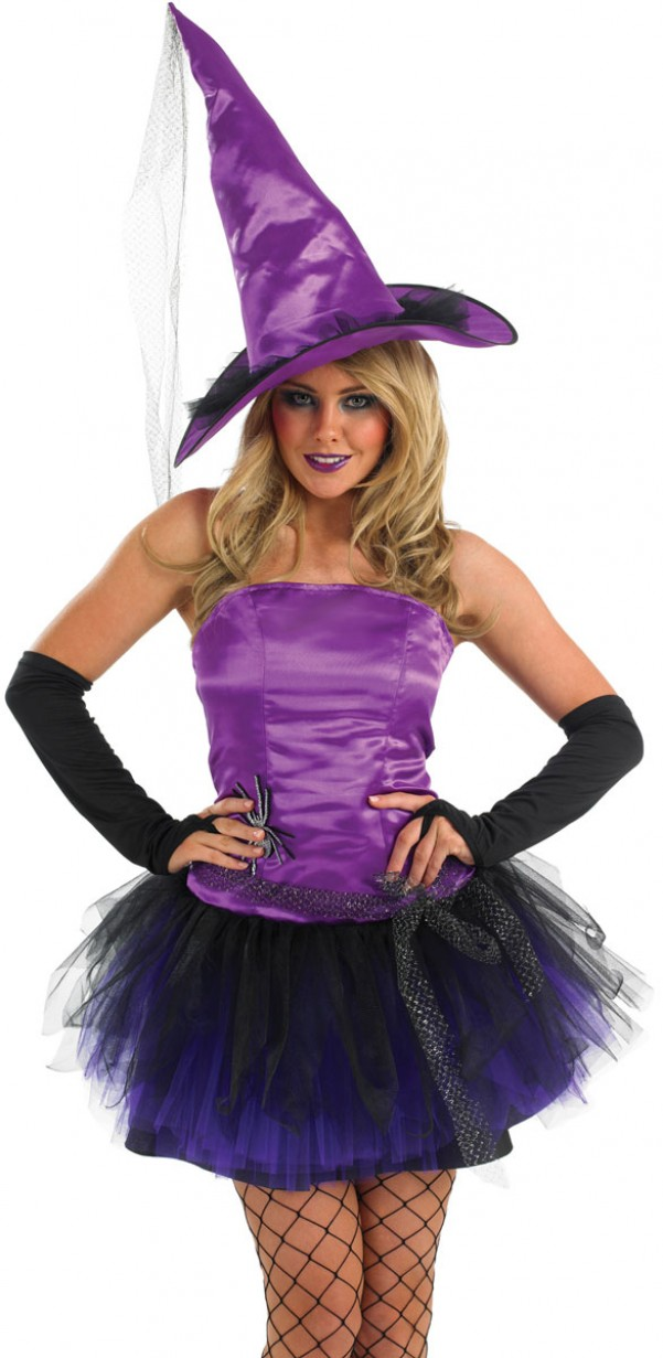 Halloween Witch Costume   Purple Witch Costume Halloween Fancy Dress And Party