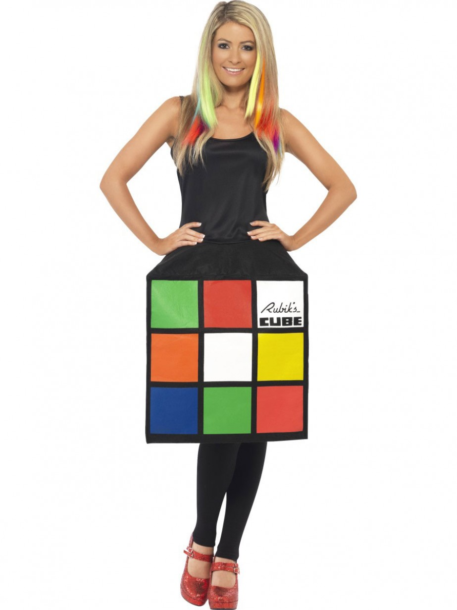 rubik 39 s cube dress fancy dress and party