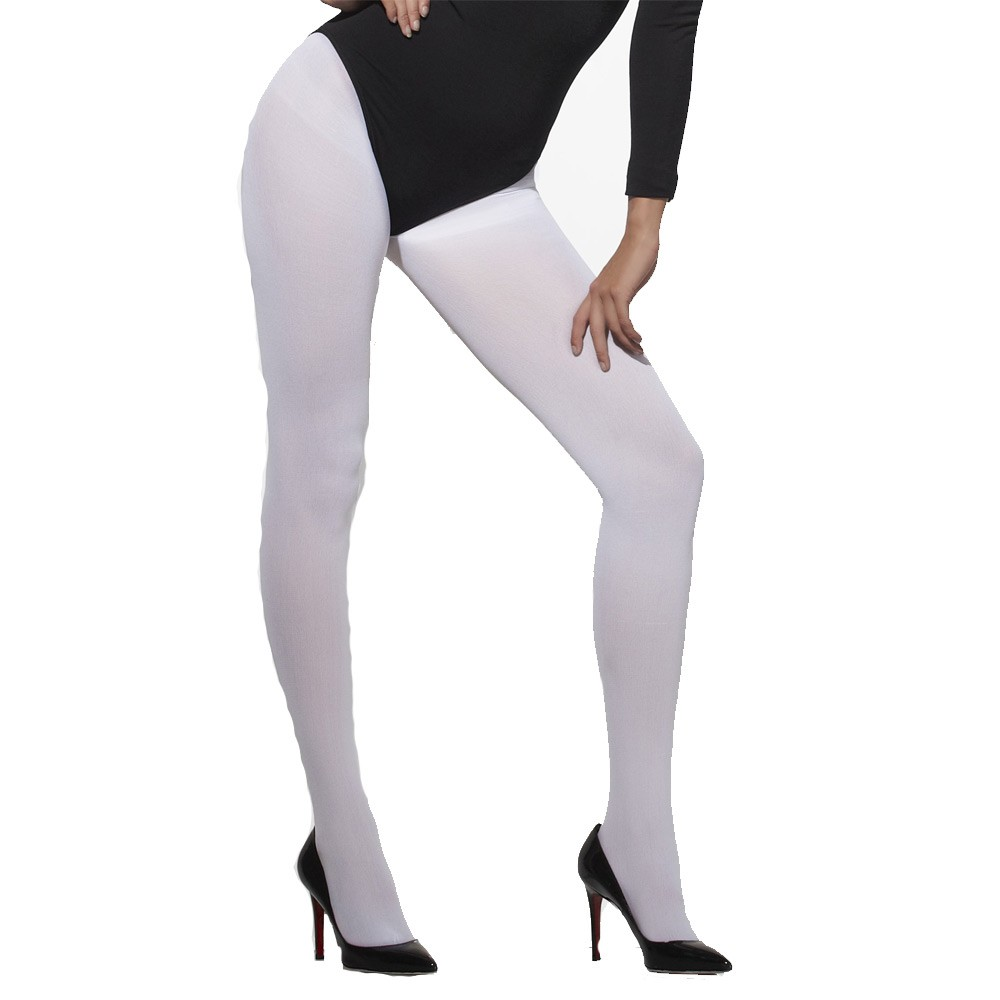 6566e70761a Opaque White Tights - Fancy Dress and Party