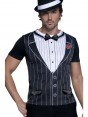 20s Gangster Costume Top Front at Fancy Dress and Party