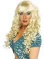 Long Curly Blonde Wig at Fancy Dress and Party