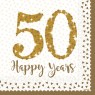 50th Golden Wedding Anniversary Napkins at Fancy Dress and Party