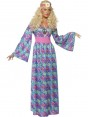 60s Maxi Hippy Costume Front at Fancy Dress and Party