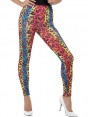 Neon Leopard Print Leggings at Fancy Dress and Party