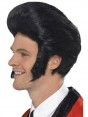Black 50s Quiff Wig at Fancy Dress and Party