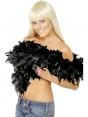 Black Feather Boa at Fancy Dress and Party