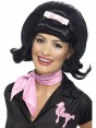 Black Flicked Beehive Wig at Fancy Dress and Party