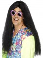 Black Hippie Wig at Fancy Dress and Party