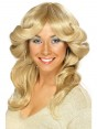 Blonde 70s Flick Wig at Fancy Dress and Party