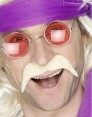 Blonde 70s Moustache at Fancy Dress and Party
