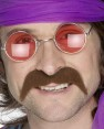 Brown 70s Moustache at Fancy Dress and Party