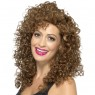 Brown 80s Wig at Fancy Dress and Party