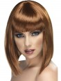 Brown Fringe Wig at Fancy Dress and Party