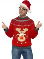 Christmas Jumper (Reindeer) at Fancy Dress and Party