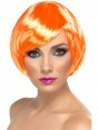 Coral Orange Bob Wig at Fancy Dress and Party
