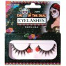 Day of the Dead Rose Eyelashes at Fancy Dress and Party