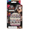 Day of the Dead Skull Nails at Fancy Dress and Party