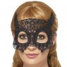Devil Black Lace Eyemask at Fancy Dress and Party