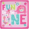 Girls Pink First Birthday Plates at Fancy Dress and Party