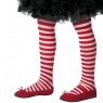 Girls Red and White Striped Tights at Fancy Dress and Party