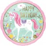 Happy Birthday Unicorn Foil Balloon at Fancy Dress and Party
