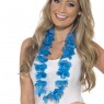 Hawaiian Neon Blue Lei at Fancy Dress and Party