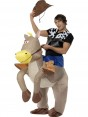 Inflatable Cowboy Costume Front View at Fancy Dress and Party