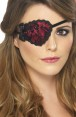 Lace Pirate Eyepatch at Fancy Dress and Party