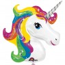 Large Rainbow Unicorn Balloon at Fancy Dress and Party