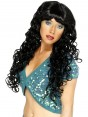 Long Curly Black Wig at Fancy Dress and Party