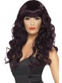 Long Curly Plum Wig at Fancy Dress and Party