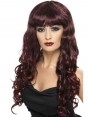 Long Curly Purple Wig at Fancy Dress and Party