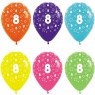 Multi Coloured 8th Birthday Balloons at Fancy Dress and Party