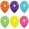 Multi Coloured 9th Birthday Balloons at Fancy Dress and Party